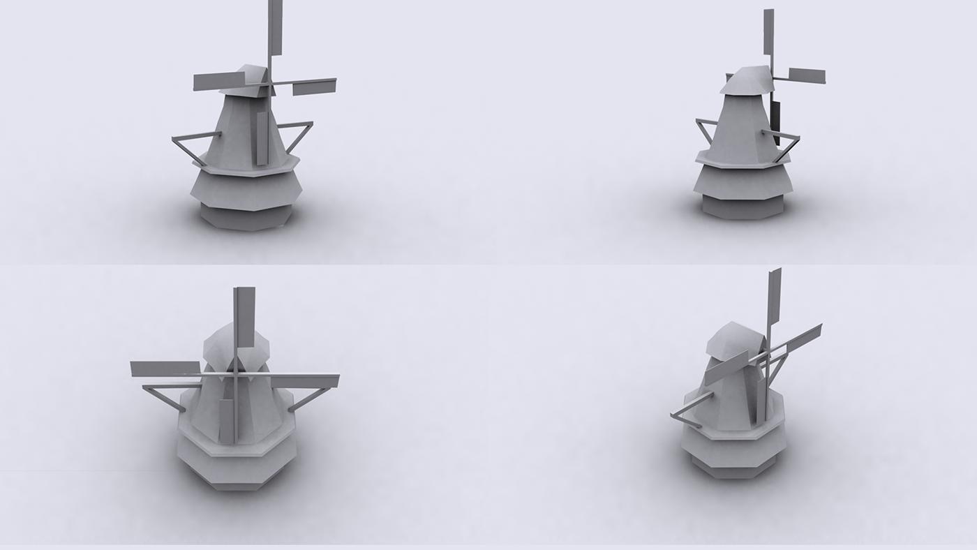 Windmill 3D Model