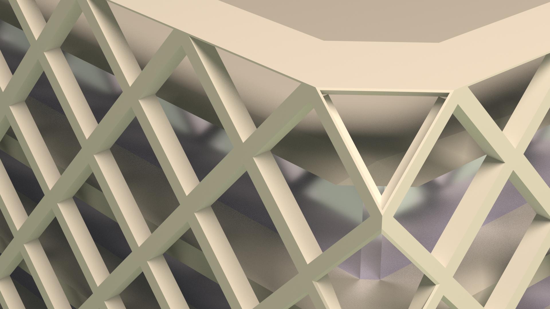 Close-up render WUR Atlas gebouw